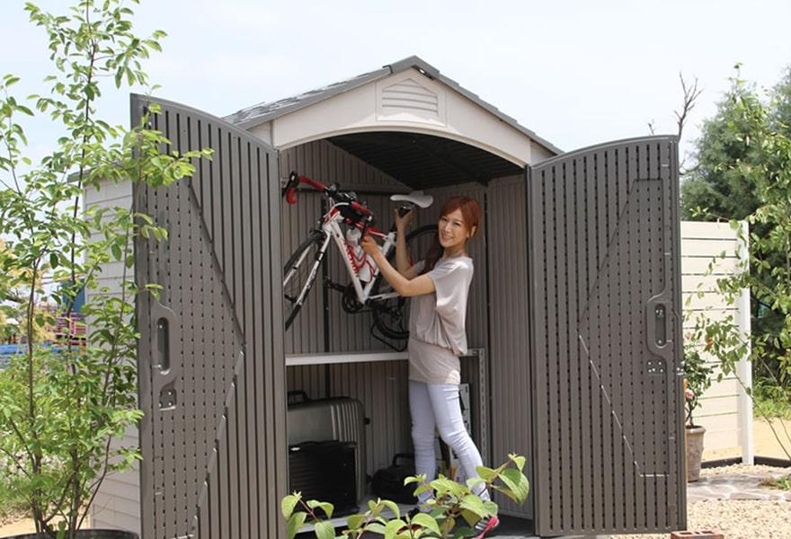 自転車の収納も簡単にできます!
